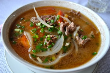 Vietnamese beef soup, otherwise knows as Pho.