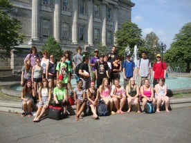 Le groupe à Montreal.