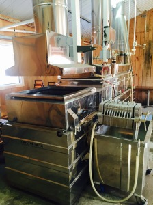 This is filter press. It's used to turn sap into maple syrup.