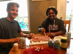 Edouard and Mayika, former youth participants of the YMCA's Summer Work Student Exchange Program. Photo submitted by Melissa.