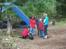 Nicole and her family at Cross Lake First Nation